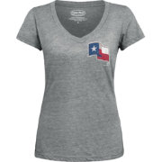 Majestic Threads Women's Texas Rangers Grey V-Neck T-Shirt