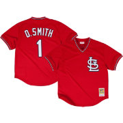 Mitchell & Ness Men's Replica St. Louis Cardinals Ozzie Smith Red Cooperstown Batting Practice Jersey
