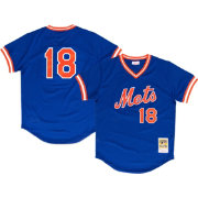Mitchell & Ness Men's Replica New York Mets Darryl Strawberry Royal Cooperstown Batting Practice Jersey