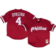 Mitchell & Ness Men's Replica Philadelphia Phillies Lenny Dykstra Maroon Cooperstown Batting Practice Jersey