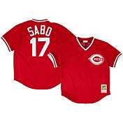 Mitchell & Ness Men's 1990 Cincinnati Reds Chris Sabo #17 Red Throwback Jersey