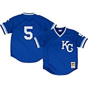 Mitchell & Ness Men's Replica Kansas City Royals George Brett Royal Cooperstown Batting Practice Jersey