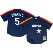 Mitchell & Ness Men's Replica Houston Astros Jeff Bagwell Navy Cooperstown Batting Practice Jersey