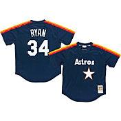 Mitchell & Ness Men's Replica Houston Astros Nolan Ryan Navy Cooperstown Batting Practice Jersey