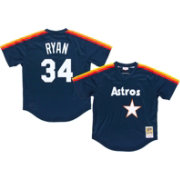 Mitchell & Ness Men's Replica Houston Astros Nolan Ryan Navy Cooperstown Batting Practice Jersey
