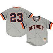 Mitchell & Ness Men's Replica Detroit Tigers Kirk Gibson Grey Cooperstown Batting Practice Jersey