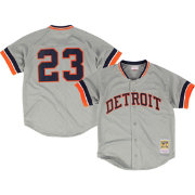 Mitchell & Ness Men's Replica Detroit Tigers Kirk Gibson Grey Cooperstown Batting Practice Jersey