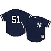 Mitchell & Ness Men's Replica New York Yankees Bernie Williams Navy Cooperstown Batting Practice Jersey