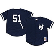 Mitchell & Ness Men's Replica New York Yankees Bernie Williams Navy Cooperstown Batting Practice Jersey