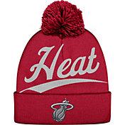 Mitchell & Ness Men's Miami Heat Script Burgundy Knit Hat