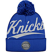 Mitchell & Ness Men's New York Knicks Script Royal Knit Hat