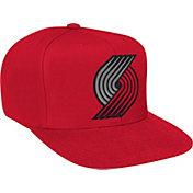 Mitchell & Ness Men's Portland Trail Blazers Wool Solid Red Adjustable Snapback Hat