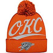 Mitchell & Ness Men's Oklahoma City Thunder Script Orange Knit Hat