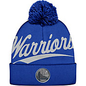 Mitchell & Ness Men's Golden State Warriors Script Knit Hat