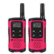 Motorola 16 Mile Talkabout T100 Two-Way Radio Pack – Pink