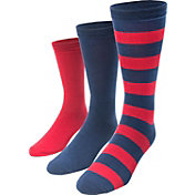 MUK LUKS Game Day Sport Crew Socks 3 Pack