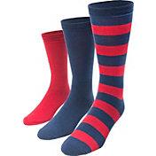 MUK LUKS Game Day Sport Crew Socks 3 Pack
