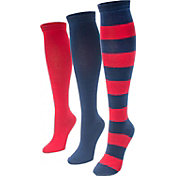 MUK LUKS Game Day Sport Knee High Socks 3 Pack