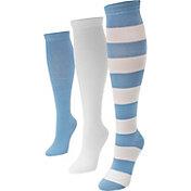 MUK LUKS Game Day Sport Knee High Socks 3 Pack