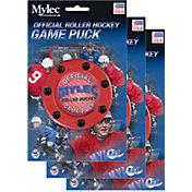Mylec Official Roller Hockey Game Pucks - 3 Pack