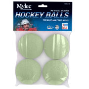 Mylec Glow in the Dark Hockey Balls - 4 Pack