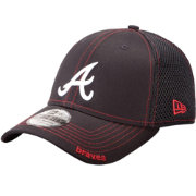 New Era Men's Atlanta Braves 39Thirty Neo Navy Stretch Fit Hat
