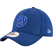 New Era Men's Milwaukee Brewers 39Thirty Tone Tech Royal Flex Hat