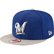 New Era Men's Milwaukee Brewers 9Fifty Heather Action Adjustable Hat
