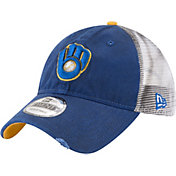 New Era Men's Milwaukee Brewers 9Twenty Rustic Royal Adjustable Hat