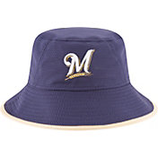 New Era Men's Milwaukee Brewers Navy Team Bucket Hat