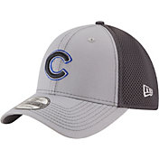 New Era Men's Chicago Cubs 39Thirty Grayed Out Grey Flex Hat