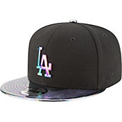 New Era Men's Los Angeles Dodgers 9Fifty Oil Tricked Black Adjustable Hat