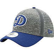 New Era Men's Los Angeles Dodgers 39Thirty Clubhouse Grey/Royal Stretch Fit Hat