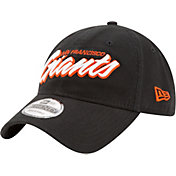 New Era Men's San Francisco Giants 9Twenty Script Black Adjustable Hat