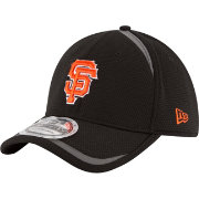 New Era Men's San Francisco Giants 39Thirty Black Reflectaline Stretch Fit Hat
