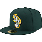 New Era Men's Oakland Athletics 59Fifty Diamond Era Green Fitted Hat
