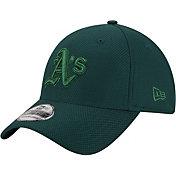 New Era Men's Oakland Athletics 39Thirty Diamond Era Tone Tech Green Stretch Fit Hat