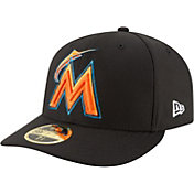 New Era Men's Miami Marlins 59Fifty Diamond Era Black Low Crown Fitted Hat