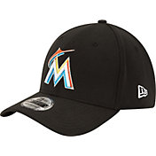 New Era Men's Miami Marlins 39Thirty Classic Black Flex Hat