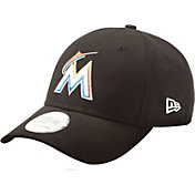 New Era Men's Miami Marlins 9Forty League Black Adjustable Hat