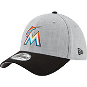 New Era Men's Miami Marlins 39Thirty Change Up Redux Grey Flex Hat