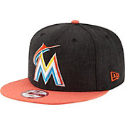 New Era Men's Miami Marlins 9Fifty Heather Action Adjustable Hat
