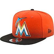 New Era Men's Miami Marlins 9Fifty Flow Team Adjustable Hat