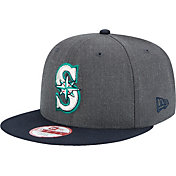 New Era Men's Seattle Mariners 9Fifty Grey/Navy Adjustable Hat