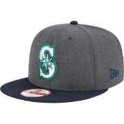 New Era Men's Seattle Mariners 9Fifty Grey/Navy Adjustable Hat