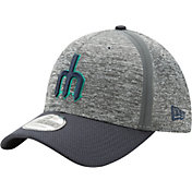 New Era Men's Seattle Mariners 39Thirty Clubhouse Grey/Navy Flex Hat