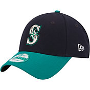 New Era Men's Seattle Mariners 9Forty Navy/Teal Adjustable Hat