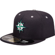 New Era Men's Seattle Mariners 59Fifty Diamond Era Navy Batting Practice Hat