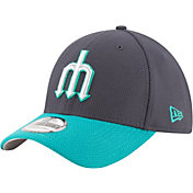 New Era Men's Seattle Mariners 39Thirty Diamond Era Navy Stretch Fit Hat