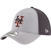 New Era Men's New York Mets 39Thirty Grayed Out Grey Flex Hat